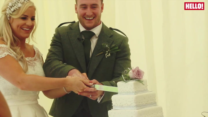 Stuart Hogg marries Gillian in a stunning castle setting