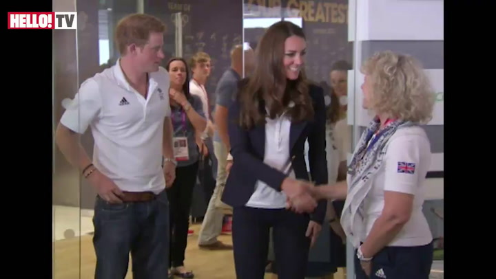 Kate and Prince Harry visit Team GB House
