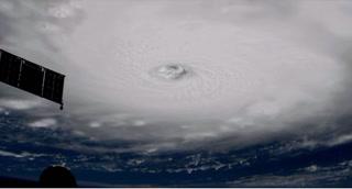 El poderoso huracán 'Irma' visto desde la Estación Espacial