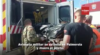 Avioneta militar se estrella en Palmerola y muere el piloto