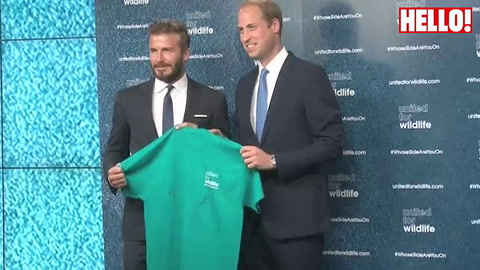 Prince William and David Beckham team up for wildlife campaign