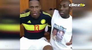 Los alocados bailes en el vestuario de Colombia tras la victoria frente a Ecuador