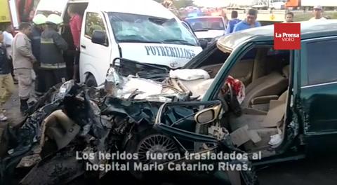 Accidente en la CA-5 de Potrerillos deja al menos seis heridos