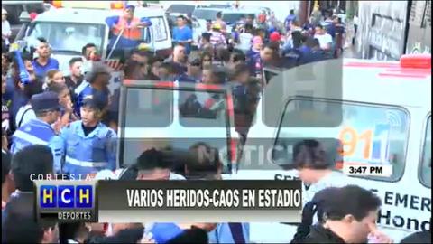 URGENTE: Fallecen aficionados de Motagua por trifulca en el Nacional