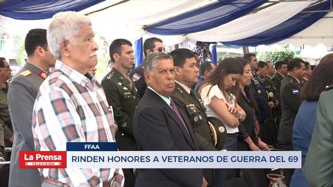Rinden honores a veteranos de guerra del 69