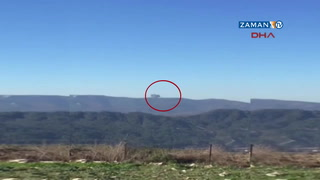 Suriye sınırında savaş uçağı düştü