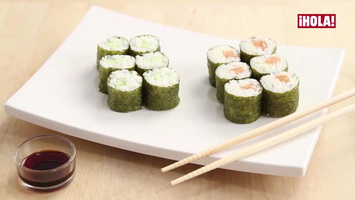 Receta: Sushi de salmón