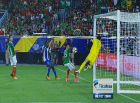 El ''casi gol Olímpico'' de ALex López a México (Copa Oro 2017)