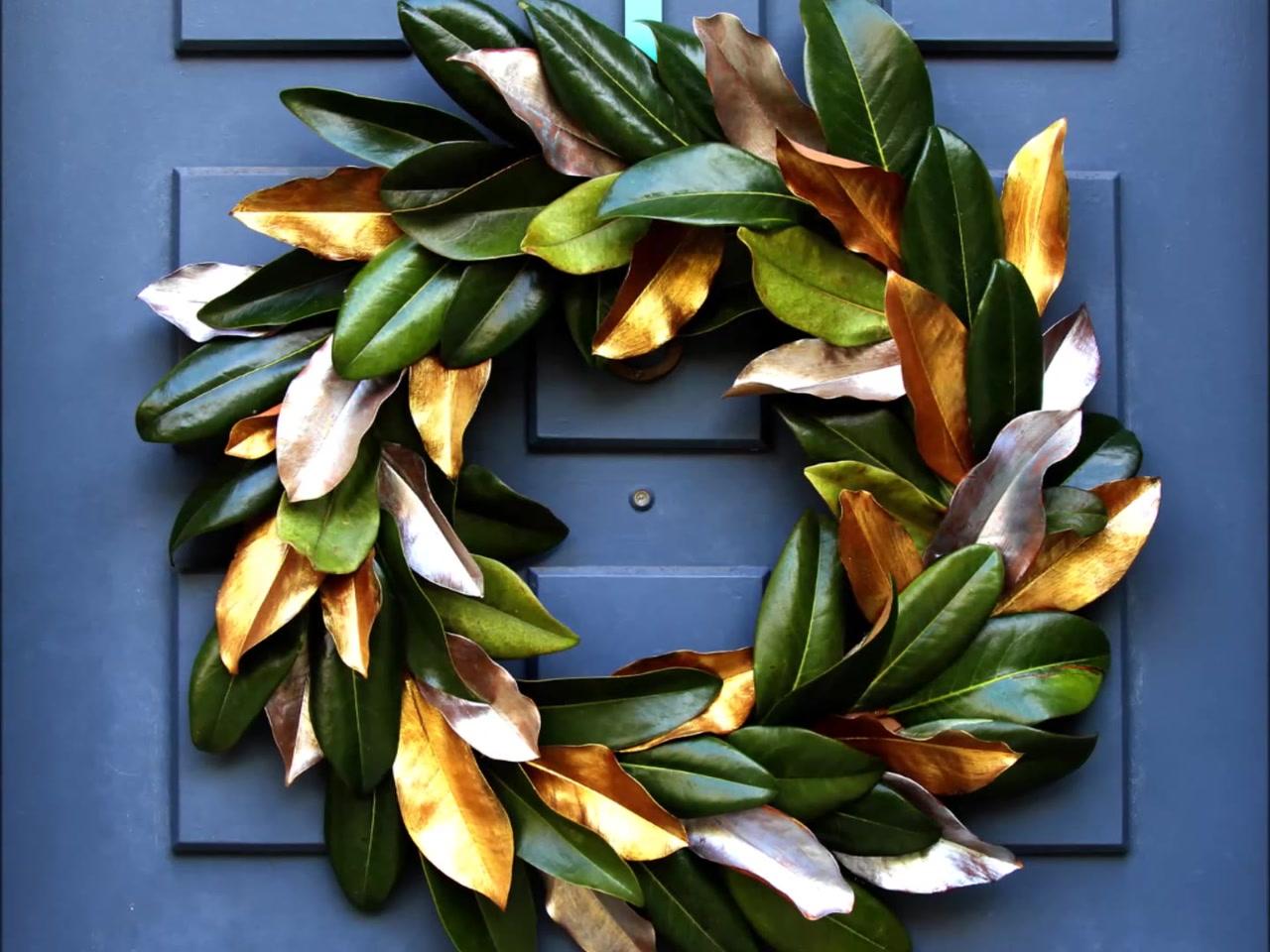 easy u0026 free diy magnolia wreath