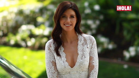 Katherine Schwarzenegger dazzles as she models Pronovias\' 2017 collection