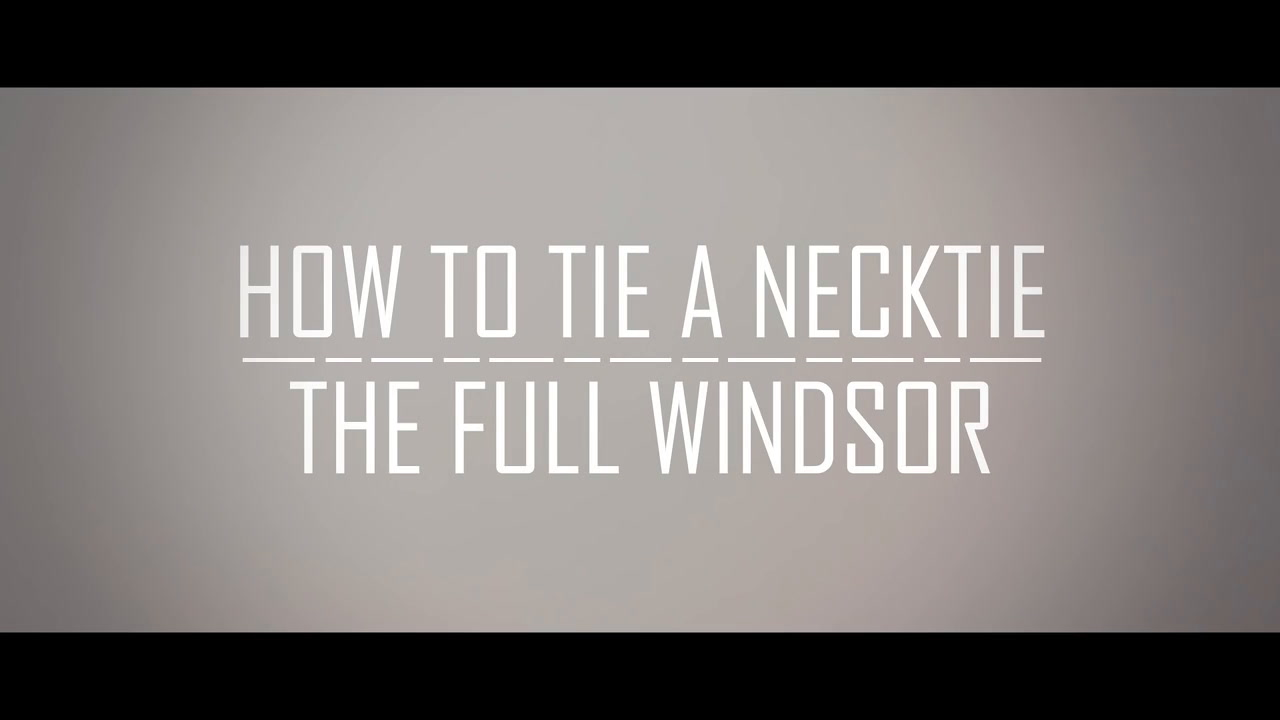 Perfect Power Tie Knot?  How To Tie A Double Windsor Necktie  Full  Windsor Necktie Tutorial