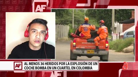 Al menos 36 heridos por la explosión de un coche bomba en un cuartel en Colombia