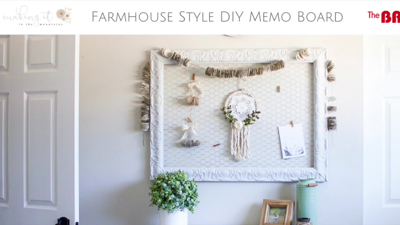 Farmhouse Home: DIY Chicken Wire Memo Board - making it in the mountains