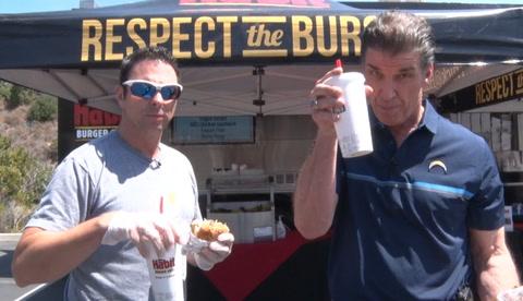 Scott & BR grill with Habit Burger