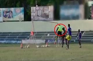 ¡Inédito! Usain Bolt la clava de cabezazo con la camiseta del Dortmund