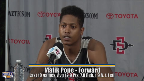 Malik Pope finally realizing full potential for Aztecs