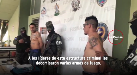 Capturan a dos peligrosos mareros en San Pedro Sula