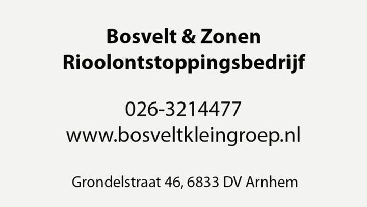 Bosvelt & Zonen Rioolontstoppingsbedrijf - Video tour