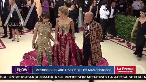 El vestido de Blake Levely de $2 millones de la Gala MET