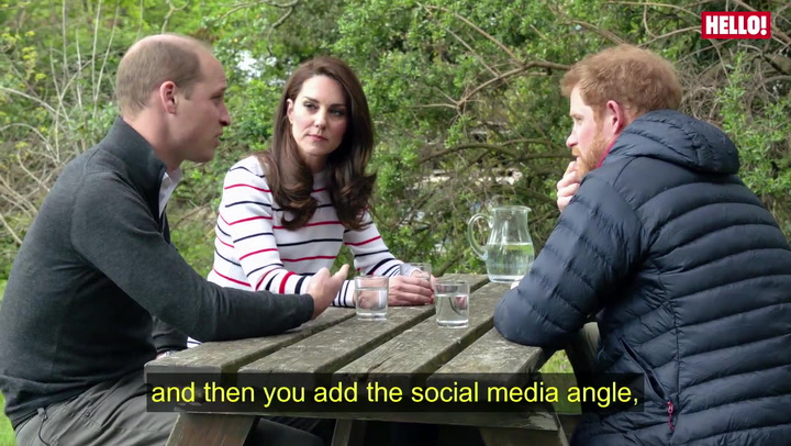 William, Kate And Harry Put Their Heads Together In A New Video About Mental Health
