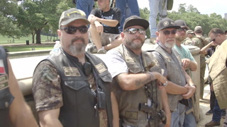 Armed Texans Rally for Sam Houston
