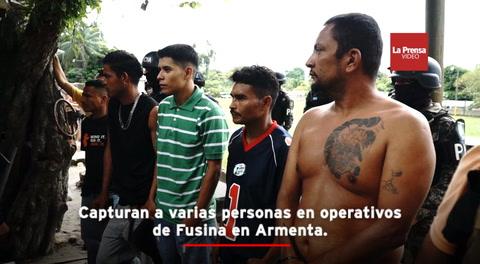 Capturan a varias personas en operativos de Fusina en Armenta