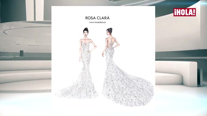 Rosa Clará da todos los detalles del vestido de novia de Antonela Roccuzzo en LA HORA ¡HOLA!