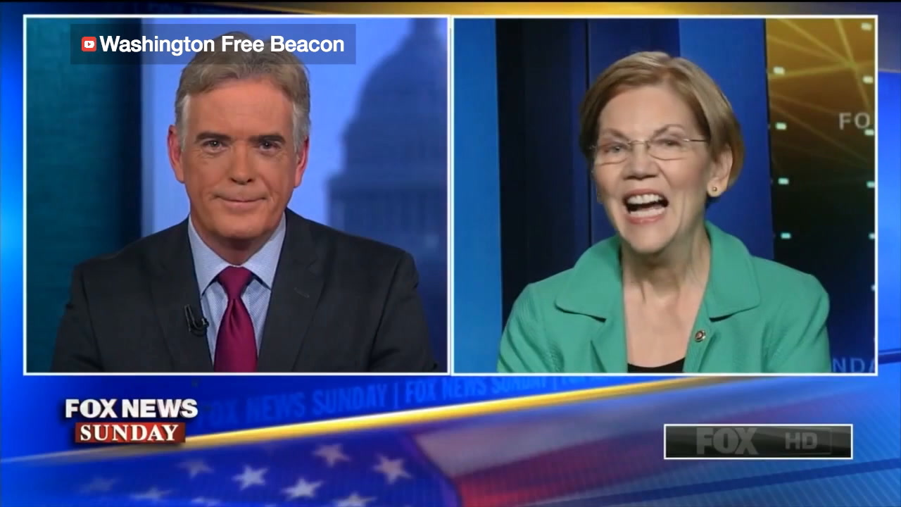 Hilarious: Washington Free Beacon catches Elizabeth Warren nailing her lines in Sunday interviews