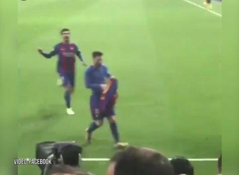 Así se vivió el gol de Messi entre la afición madridista
