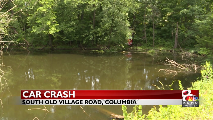 Car careens off road, nearly crashes into pond