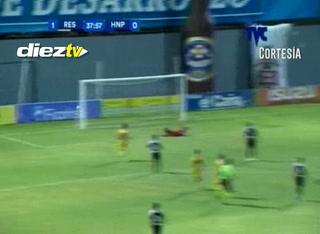 GOOOOOOOOOOL de Real España, Ángel Tejeda marca el 1-0 con un tremendo remate de derecha desde afuera del área