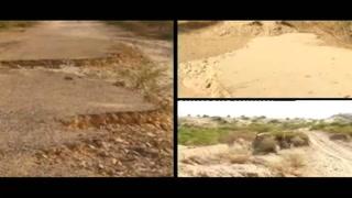 بدین سے گاؤں امرنوگوٹھ جانے والی سڑک تباہ ، ہزاروں لوگ پریشان