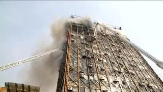 Derrumbe de edificio en Teherán deja 20 bomberos muertos