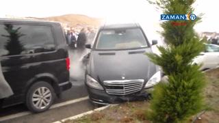 Devlet Bahçeli'nin konvoyunda kaza meydana geldi