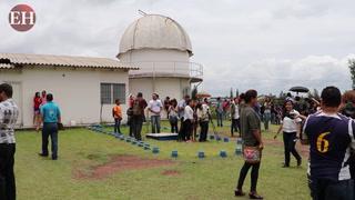 Así se vivió el eclipse parcial de sol en el Observatorio de la UNAH