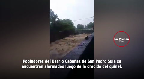 Crecida de quinel en Barrio Cabañas genera pánico tras fuertes lluvias