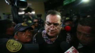 Javier Duarte llega a tribunal en Guatemala para audiencia