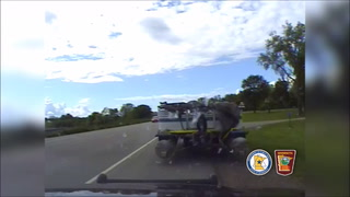 Video image from the Minnesota State Patrol dashboard camera. (VIDEO IMAGE)