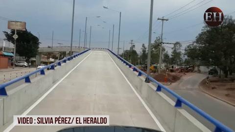 Paso aéreo en la colonia Miraflores ya está habilitado