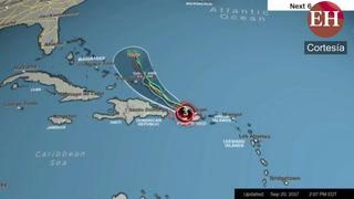 Conozca la trayectoria del Huracán María para los próximos 5 días