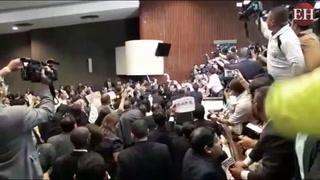 Zafarrancho al culminar elección de la junta directiva del CN