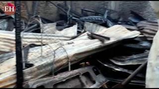Así quedó la cuartería de la colonia Rivas después del incendio