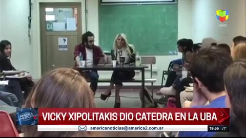 Y un día llegó a la UBA: Vicky Xipolitakis dio una charla para alumnos
