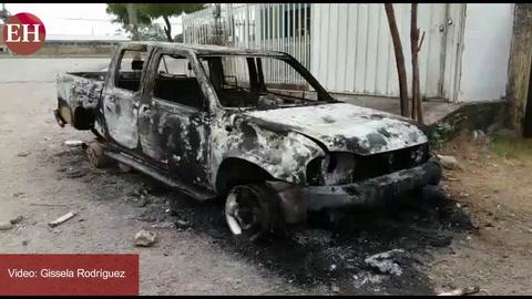 Incendian vehículo de la municipalidad de Namasigüe, Choluteca