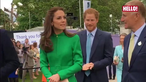 Prince William, Kate and Prince Harry arrive at Chelsea Flower Show