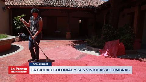 La ciudad colonial y sus vistosas alfombras