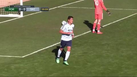 Roger Espinoza marca gol en amistoso del Sporting Kansas City