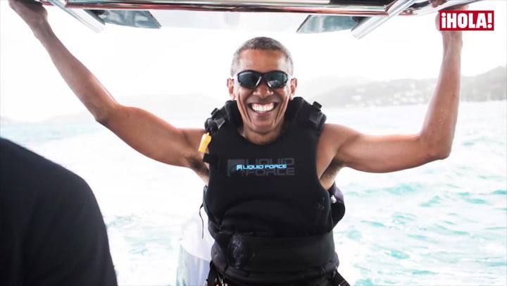 Barack Obama, de la Casa Blanca... ¡a la tabla de \'kitesurf!