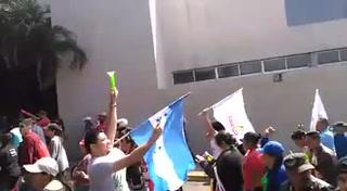 Simpatizantes de la Alianza de Oposición marcha este domingo