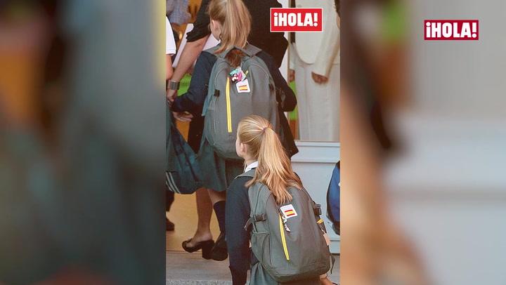 Descubrimos el \'secreto\' de las mochilas de la princesa Leonor y la infanta Sofía